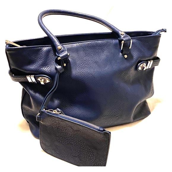 Charming Charlie Handbags - Navy blue Charming Charlie tote